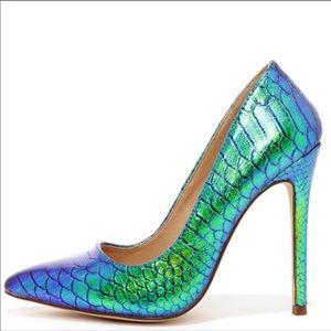 "JustFab ""Vivenne"" Mermaid Heels"